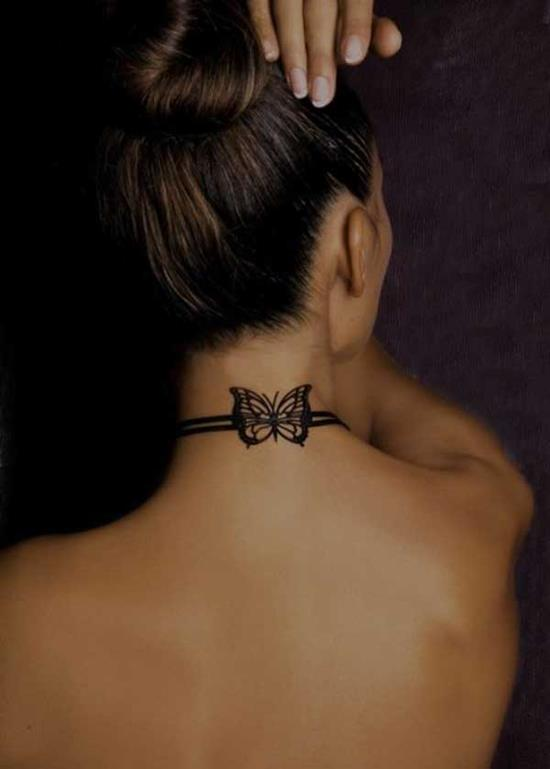 23-Small-Butterfly-Tattoo-on-neck1