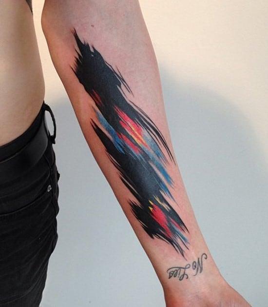 14-Watercolor-Forearm-Tattoo