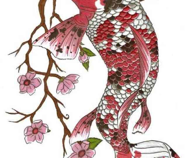 Koi Fush Tattoo With Spots