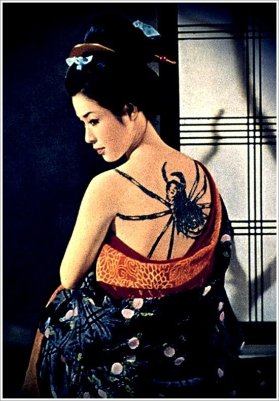 spider tattoo on back