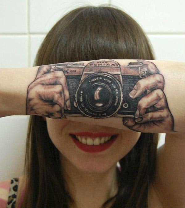 3D Camera Tattoos