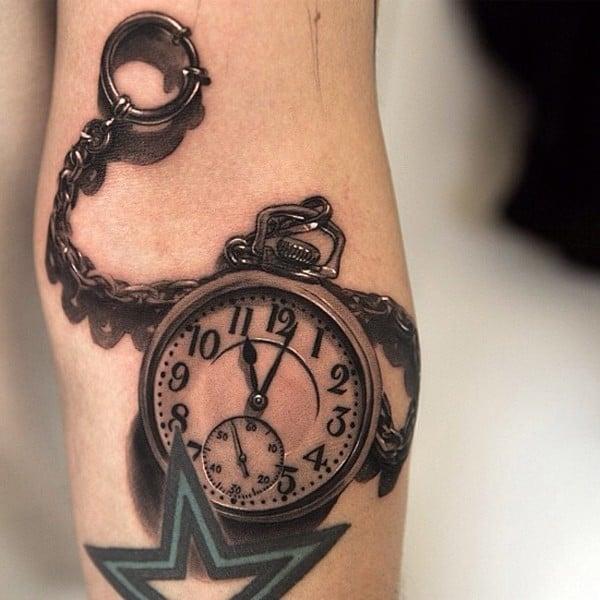 3D Watch Tattoo