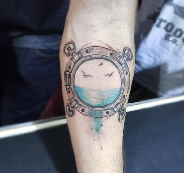 Port Hole Tattoo by Felipe Mello