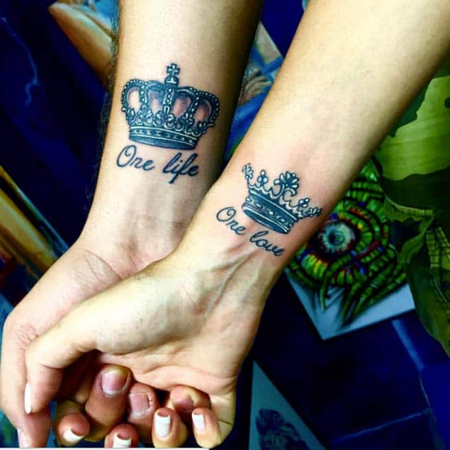 One Life One Love Crown Tattoos by Rony Sassine