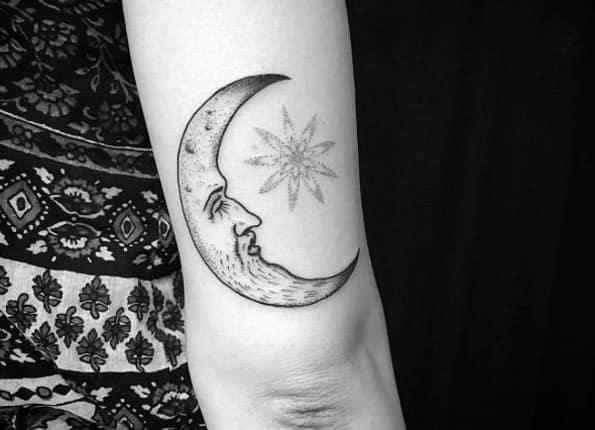 Amazing Moon Tattoo by Ariel Niräkära