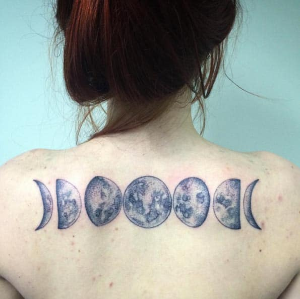 Moon Phases Tattoo by Dexter Kay