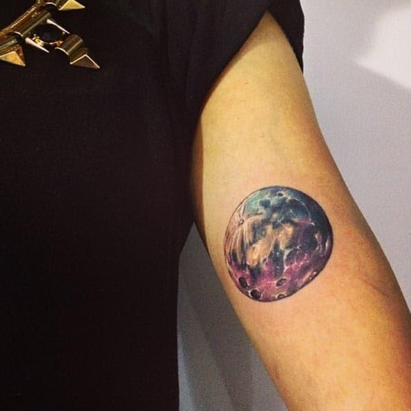 Lunar Moon Tattoo by Adrian Bascur