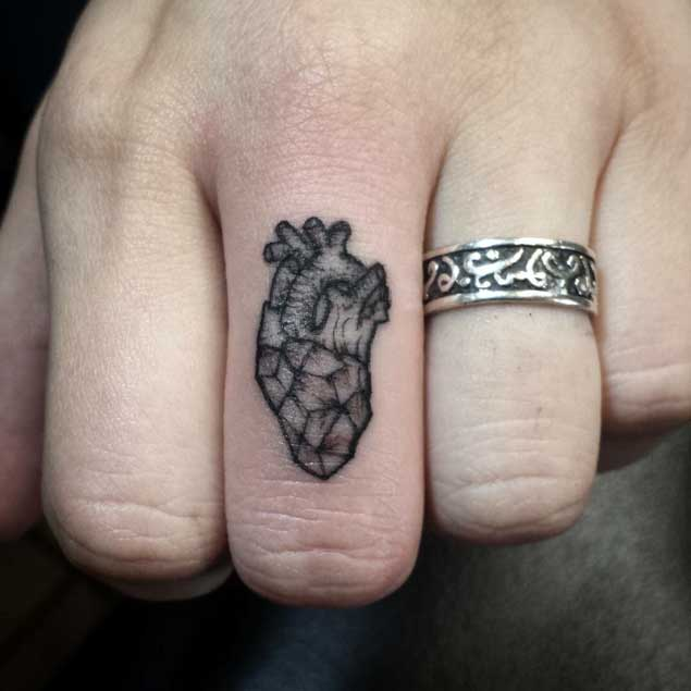 Heart Finger Tattoo