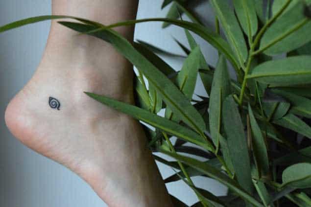 Tiny Heel Tattoo