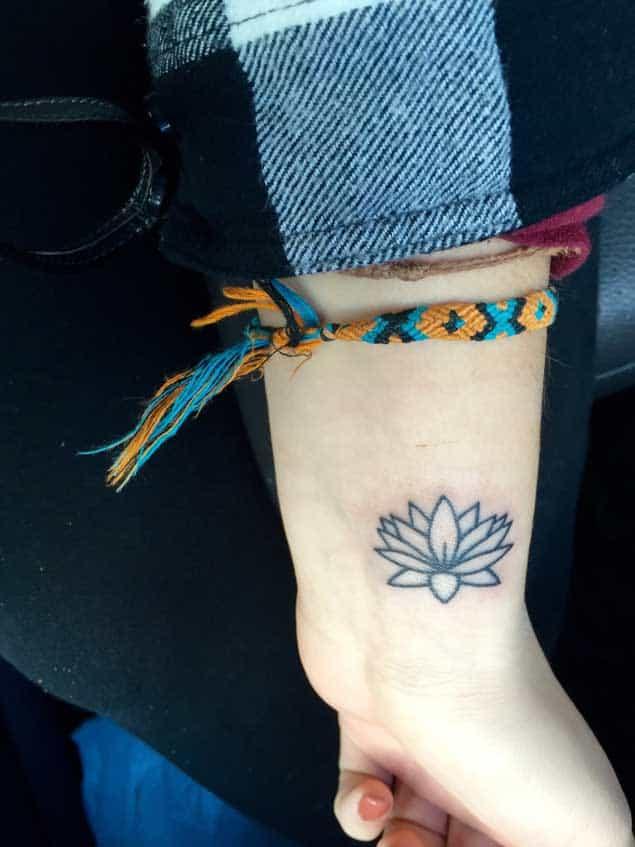 Minimalistic Lotus Flower Tattoo