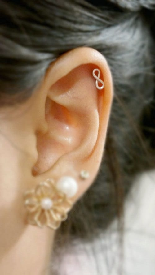 Infinity helix earring inspiration for lover