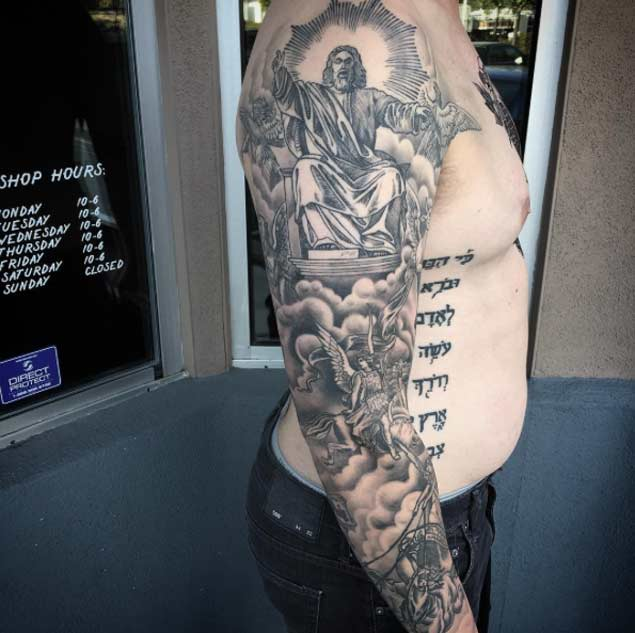 Henna Stomach Tattoo Style