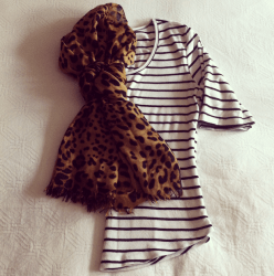 Simple stripes with Leopard Print.
