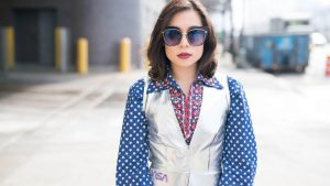 The StyleWright wears Vivienne Tam Kasey Ma