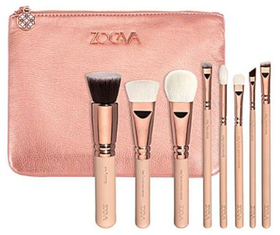 Zoeva Rose Gold travel makeup brushes