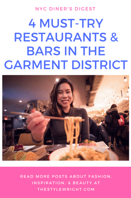 4 Must-Try Restaurants & Bars in the Garment District