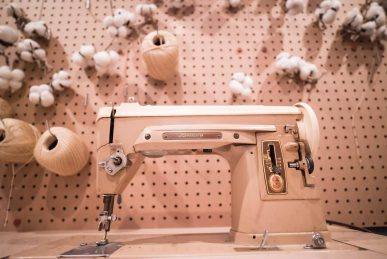 Kasey Ma of TheStyleWright at Isakaya Mew in Garment District Singer Sewing Machine