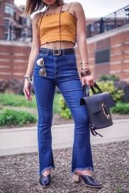 Sugarhigh molly and zoe rachel zoe yay sunshine bill blass thestylewright kasey ma nyfw 2018 new york fashion week bell bottoms