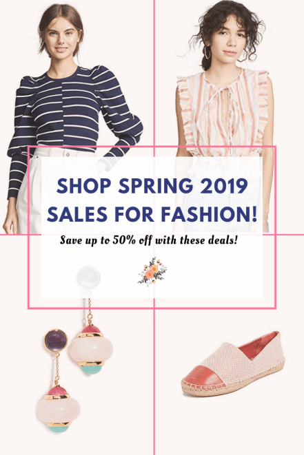 shop spring 2019 sales for fashion
