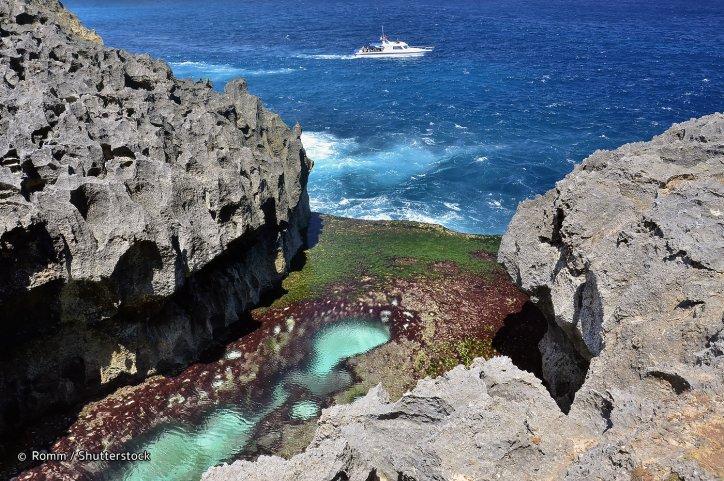 Angel's Billabong natural infinity pool in Bali Indoenesia