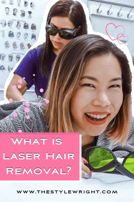 Kasey Ma of The StyleWright gets laser hair removal treatment on legs and brazilian area