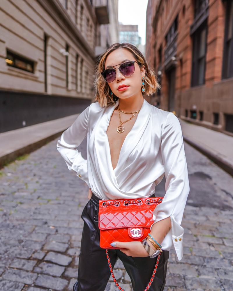 Kasey Ma in Elie Tahari for New York Fashion Week