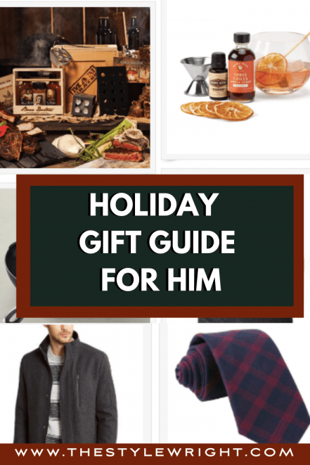 guide for him for the holidays with items from the lists above