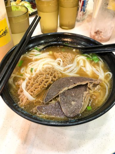 Beef Stew with Noodles Dinner in Hong Kong