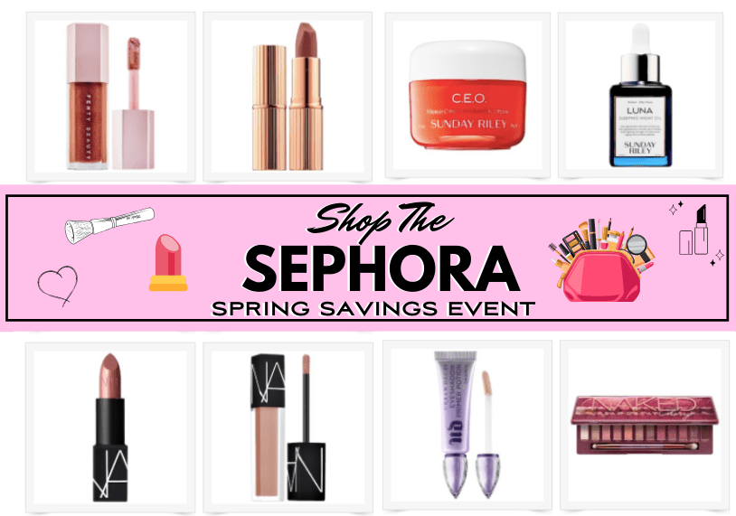 Sephora Beauty's Spring Sale Graphic with items featured