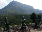 Looking out from top of big buddha.