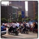 A little traffic in Nanning.