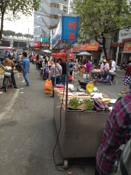 Amazing array of food to select from along the street!