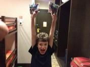 Kid is happy.