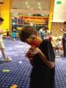 Kiddo liked creating guns.