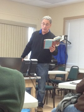 Wonderful author David Greenburg lecture on his new novel.