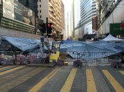 Walking home past the occupy area in Causeway Bay, not over...