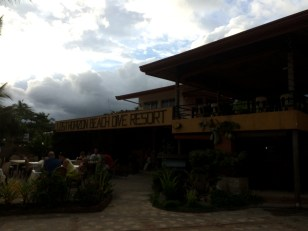 Where we ate our beachside dinner.