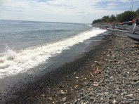 The beach was rocky, not easy to walk along but peaceful