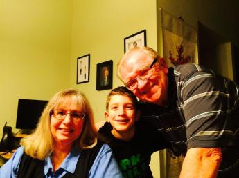 Kiddo so happy to hang out with grandma and grandpa