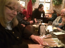 Ordering special dessert and wrapping up...