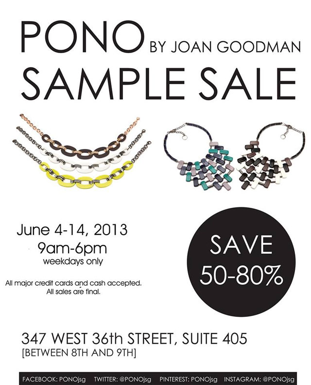 Sample Sale NYC