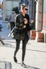 January 15, Simple black leggings and a basic black puffy coat