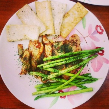 Grilled Chicken with Asparagus and Tofu