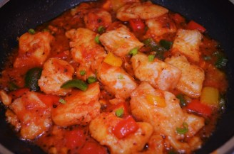 Pagasius Fillet in Tomato Stew