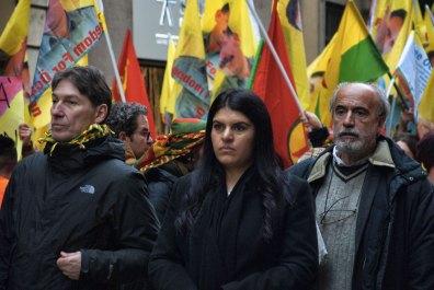 La nipote di Abdullah Öcalan in corteo