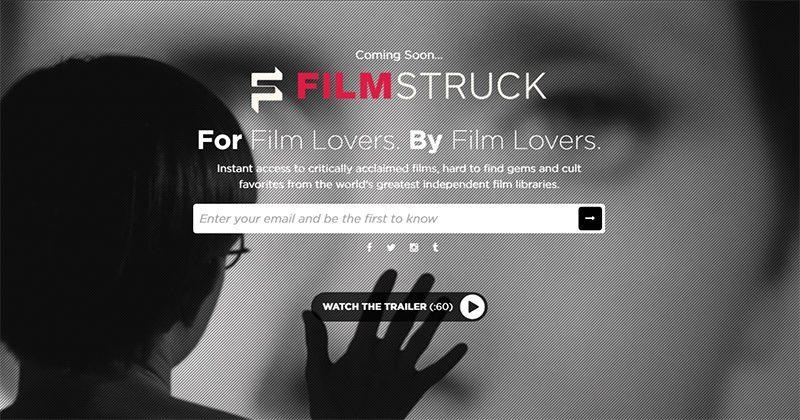 La homepage del servizio streaming della Criterion Collection.