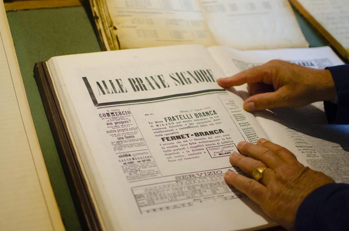 documenti archivio distilleria Fernet