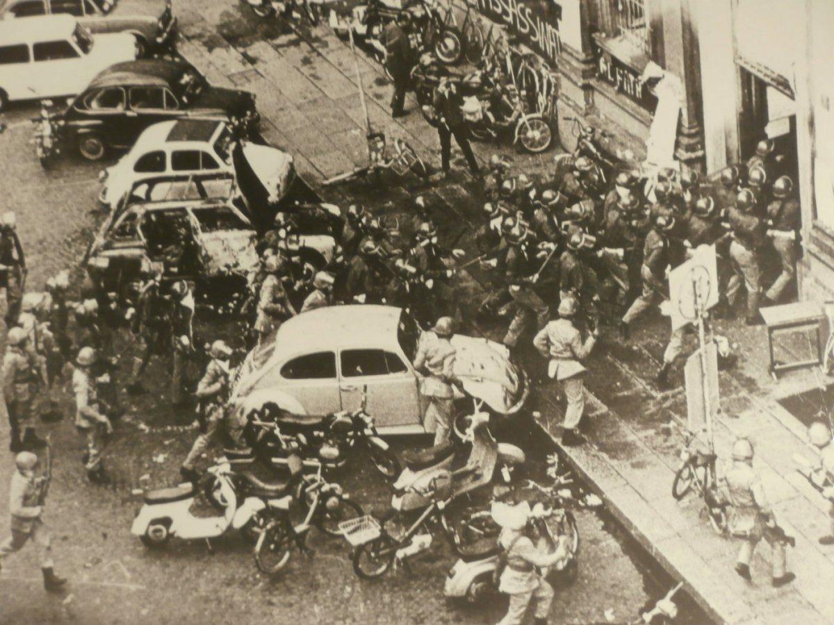 16 giugno 1972, disordini alla Statale di Milano