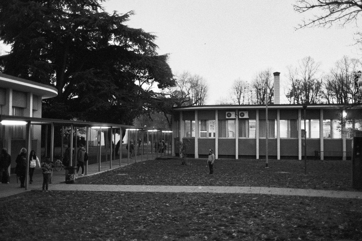 Il padiglione biblioteca, costruito negli anni '60 (2017)