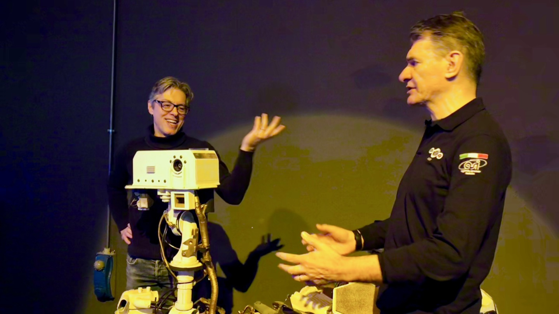 Space race privata e campioni di muscoli, con Paolo Nespoli e Leo Ortolani